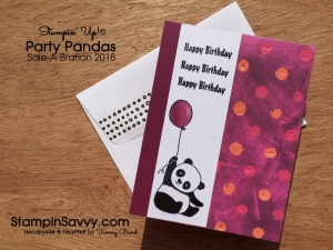 Party Pandas Painted With Love Simple Birthday Card