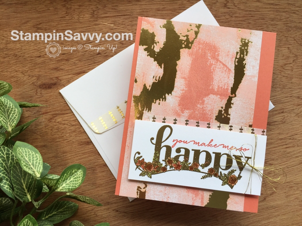 Sale-A-Bration Favorites Happy Wishes card