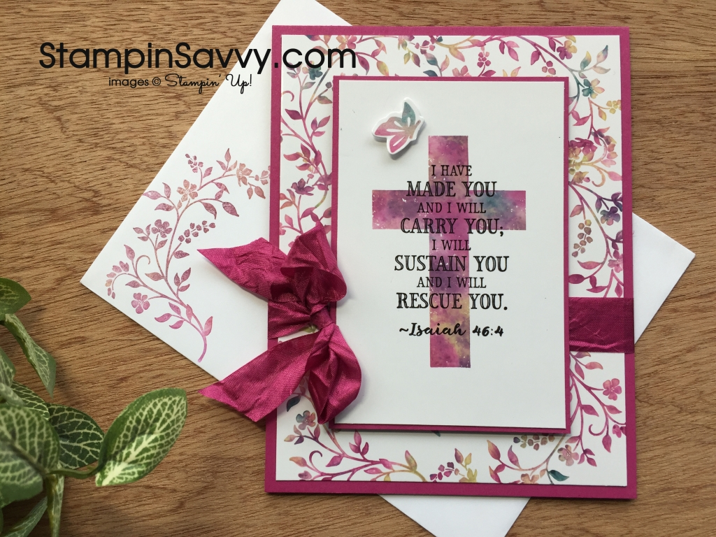 Stamping with baby wipes Hold on to Hope Card