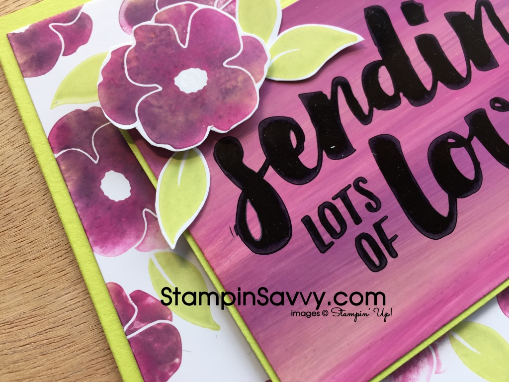 Lots of Love Stamping with Baby Wipes Close-up Card