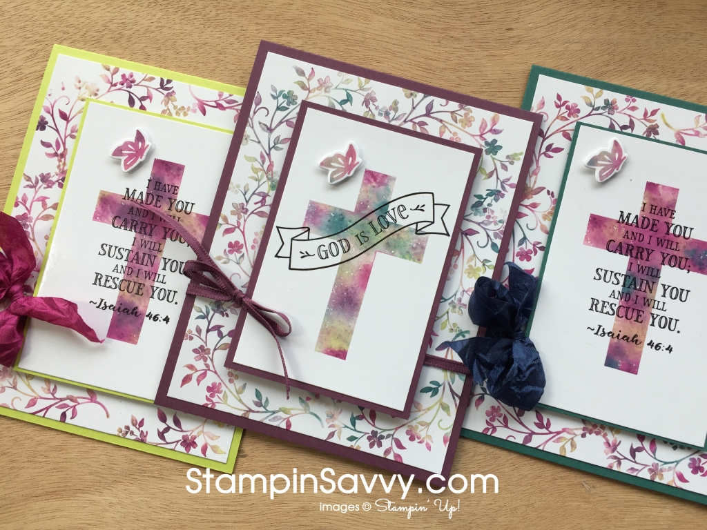 Stamping with baby wipes hold on to hope cards