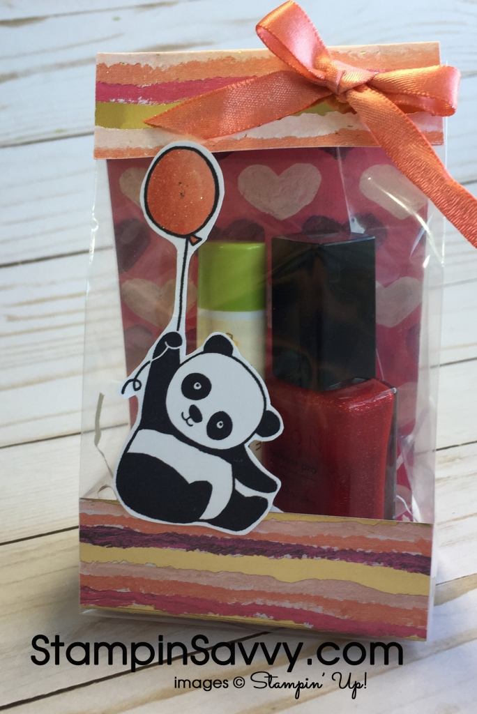 Quick & Easy Treat Holder Painted with Love Party Pandas SDSP