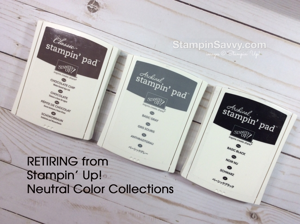 retiring Stampin Up colors from neutral collection
