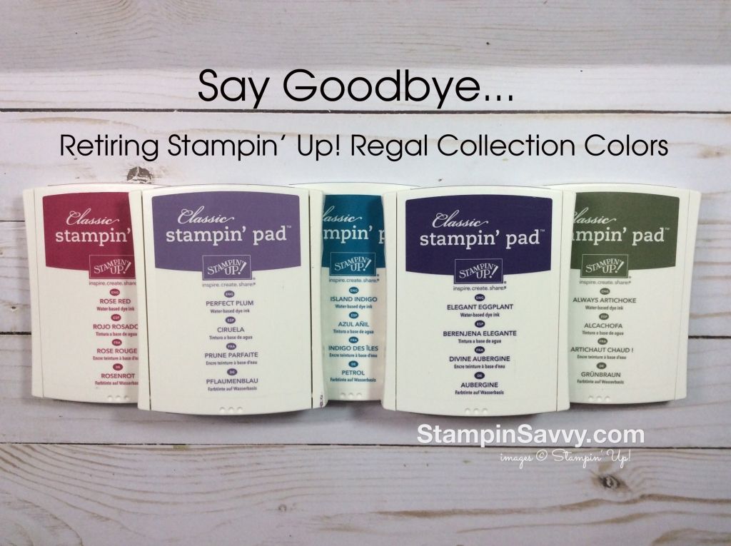 retiring Stampin Up colors from regals collection