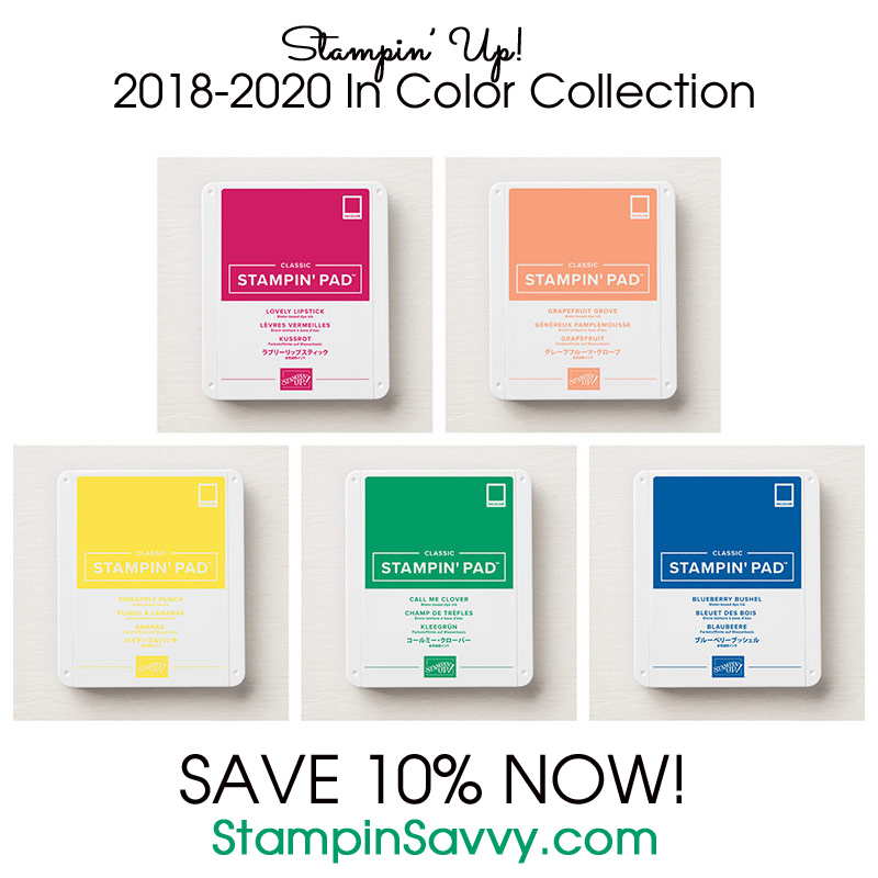 Stampin Up 2018-2020 In Color Collection Ink Pads stampinup stampinsavvy