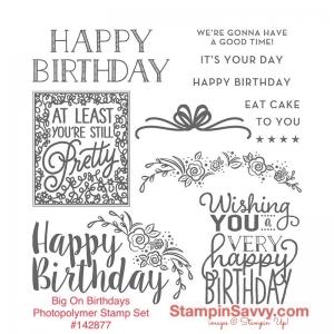 big on birthdays stamp set #142877