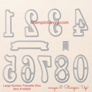 large number framelits die set item#140622