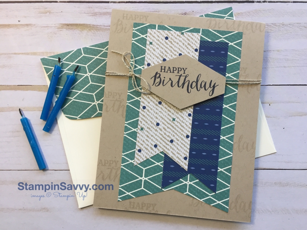 Mens Birthday Cards For Facebook ~ Masculine birthday card with surprising and retiring stamps