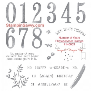 number of years photoplymer stamp set item #140653