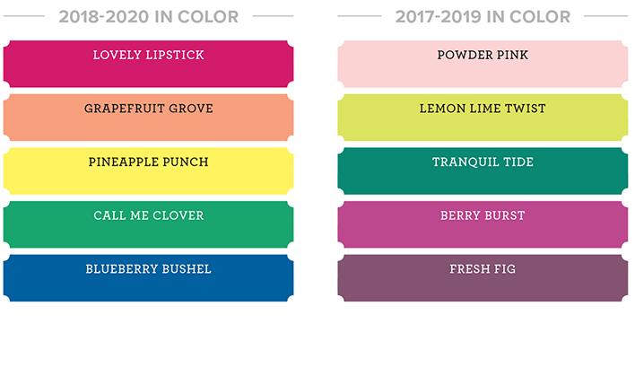 new stampin up colors in color collections
