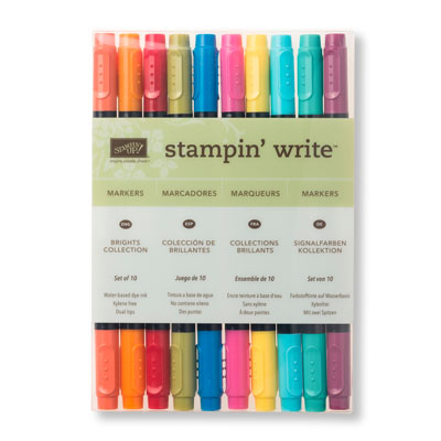 stampin write markers brights collection