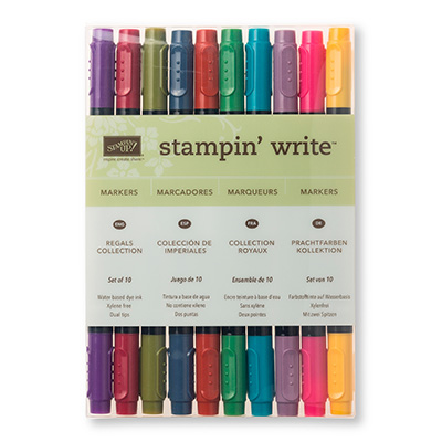 regals collection stampin write markers