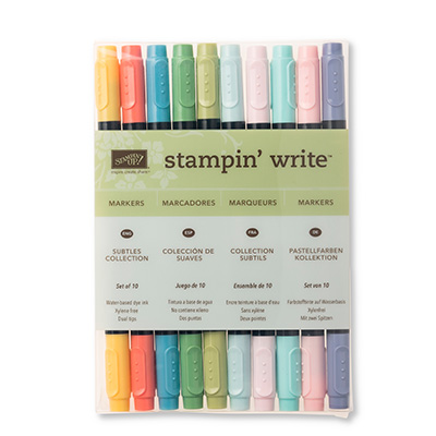 subtles collection stampin write markers
