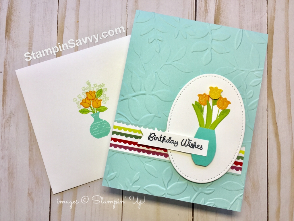Varied Vases birthday card front