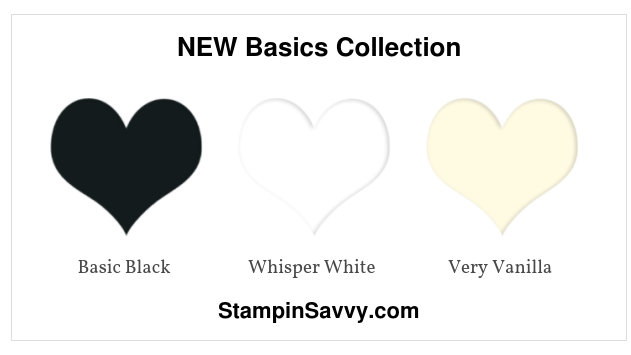 new stampin colors basics collection