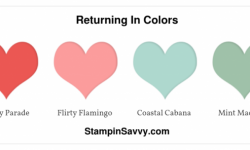 new stampin up colors