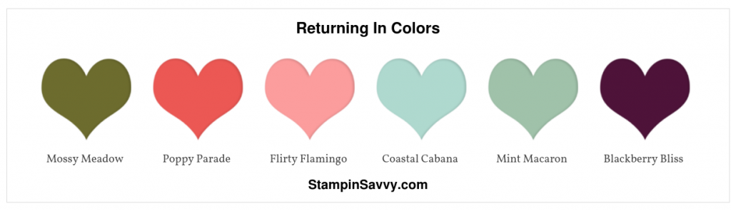 returning stampin up in colors new stampin up colors