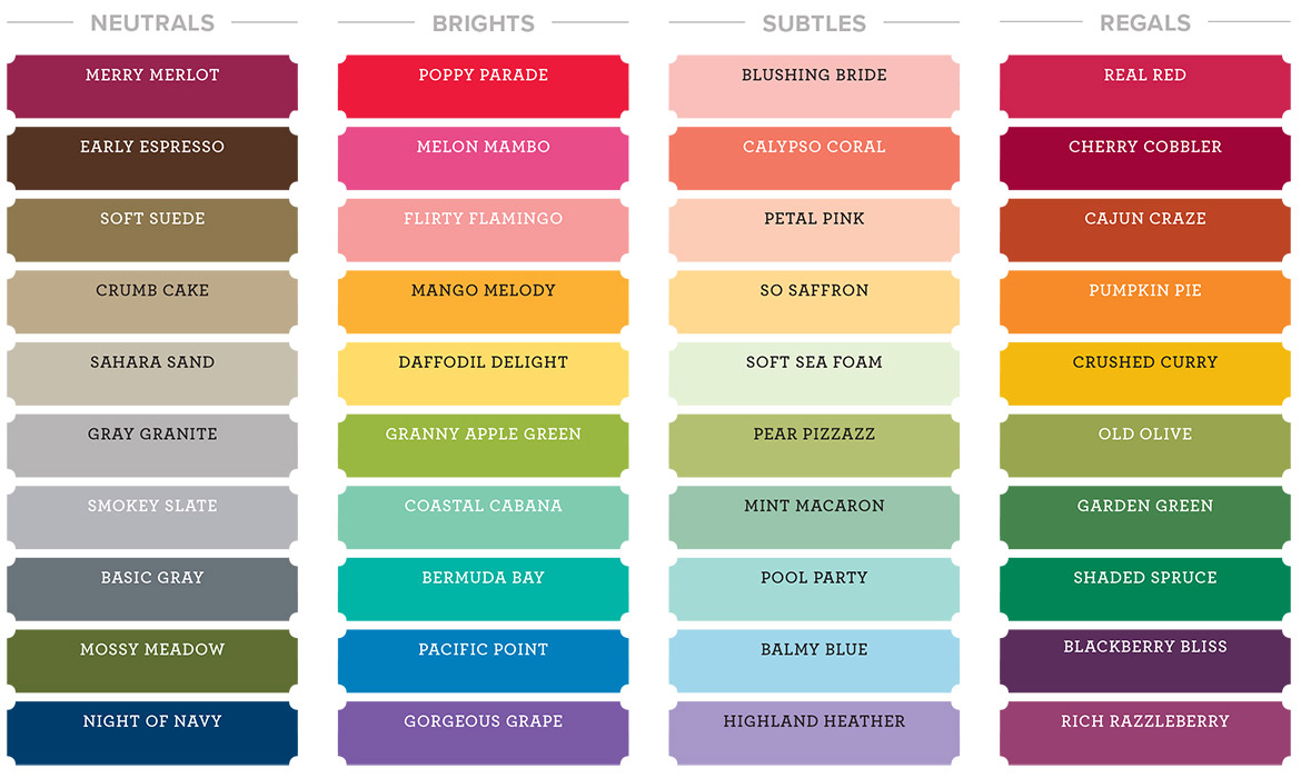 new stampin up colors collections