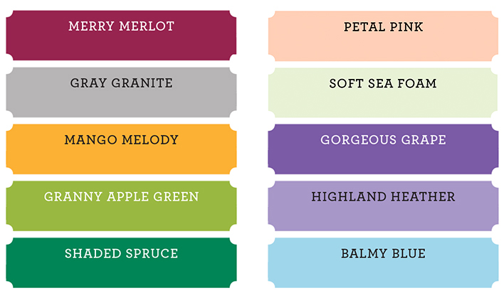 10 new stampin up colors