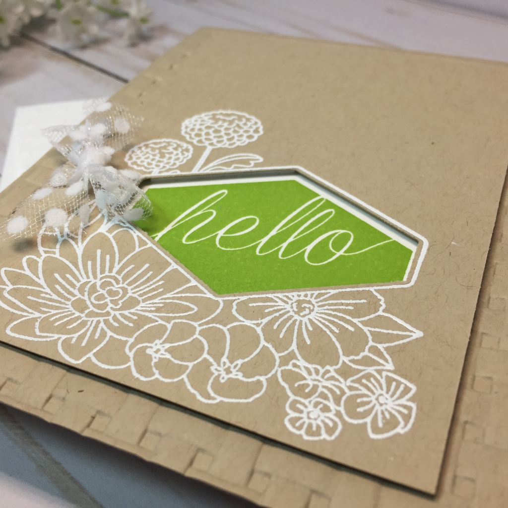 accented blooms peeaboo hello card by tammy beard at stampin savvy