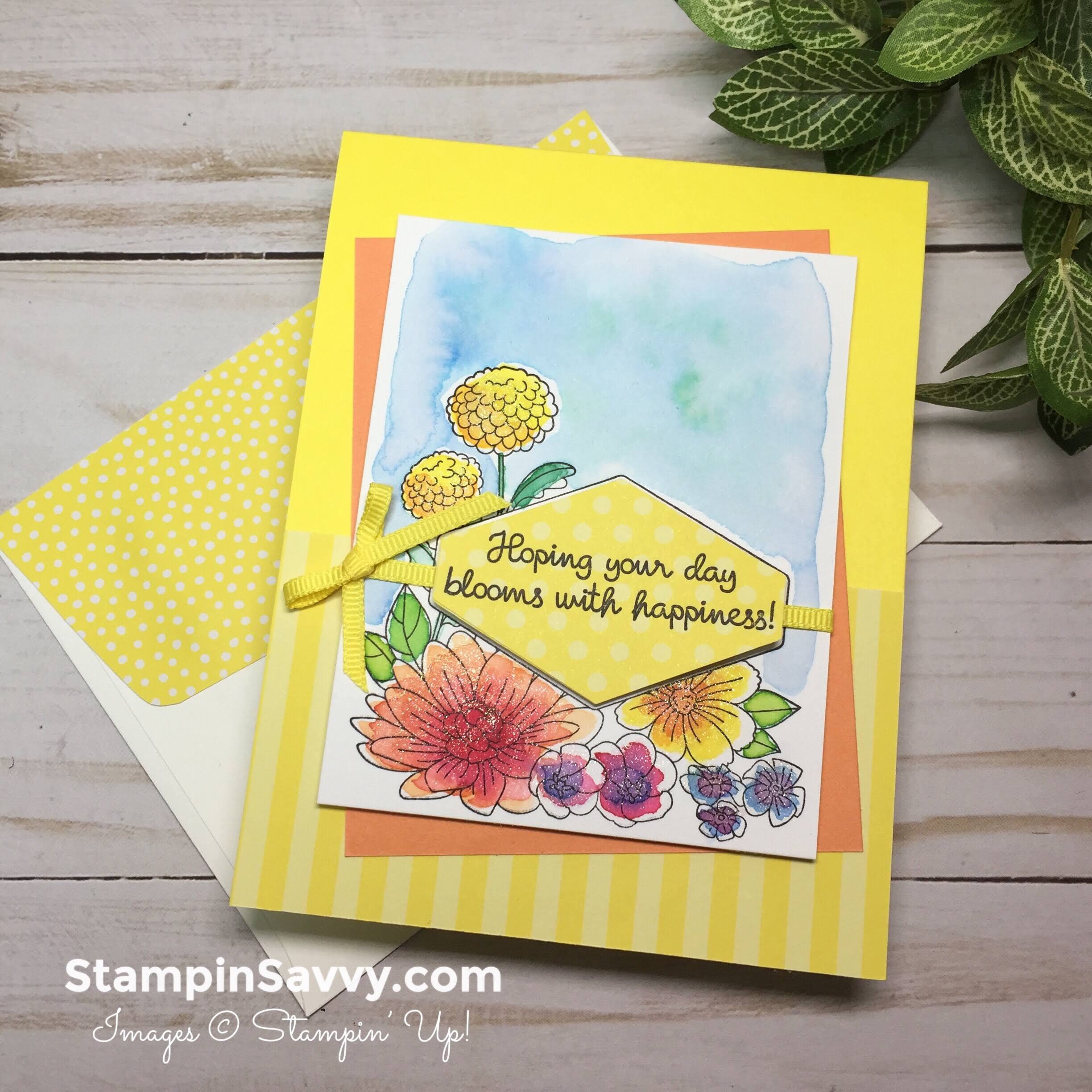 accented blooms easy watercolor cards ideas stampinup stampin up stampinsavvy stampin savvy tammy beard