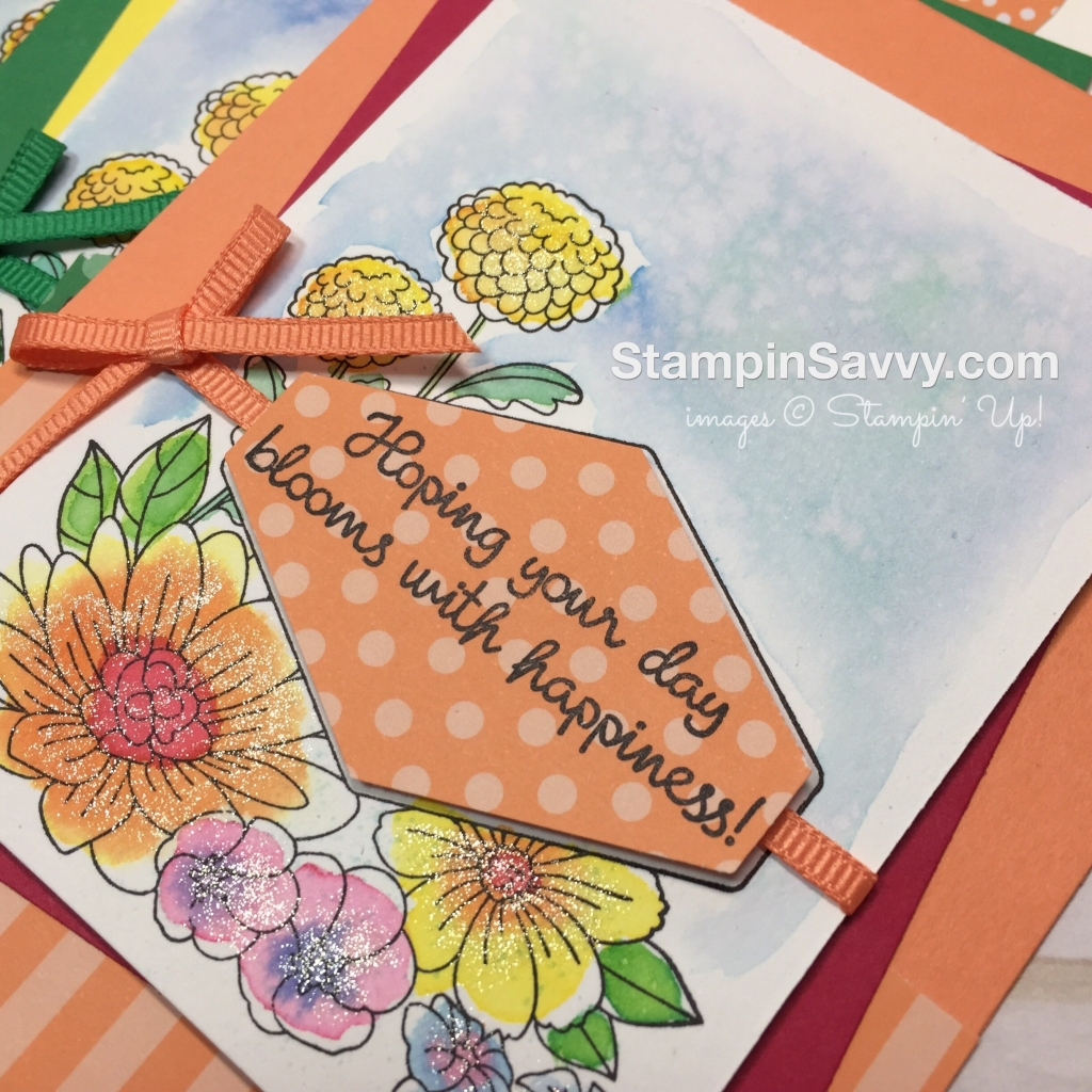 Accented Blooms Round 3 Easy Watercolor Cards