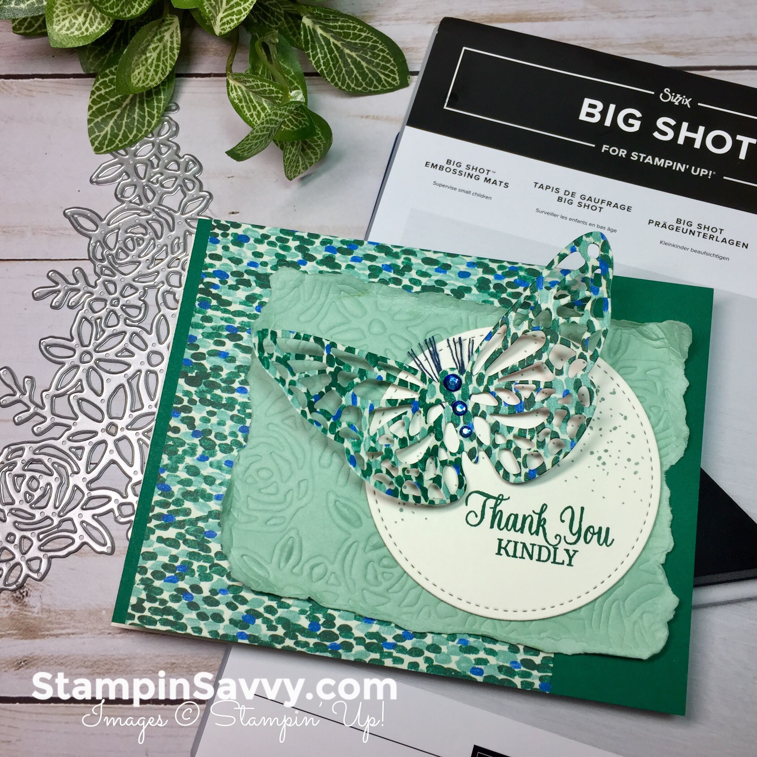 How To Emboss With Dies And The Big Shot Embossing Mat Stampinup Stampin Up Savvy
