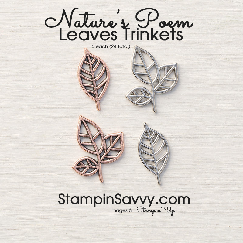 leaves trinkets natures poem stampinup stampin up stampinsavvy stampin savvy