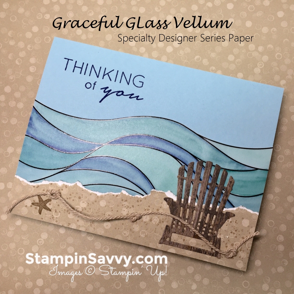 happy independence day with a fun graceful glass vellum card idea