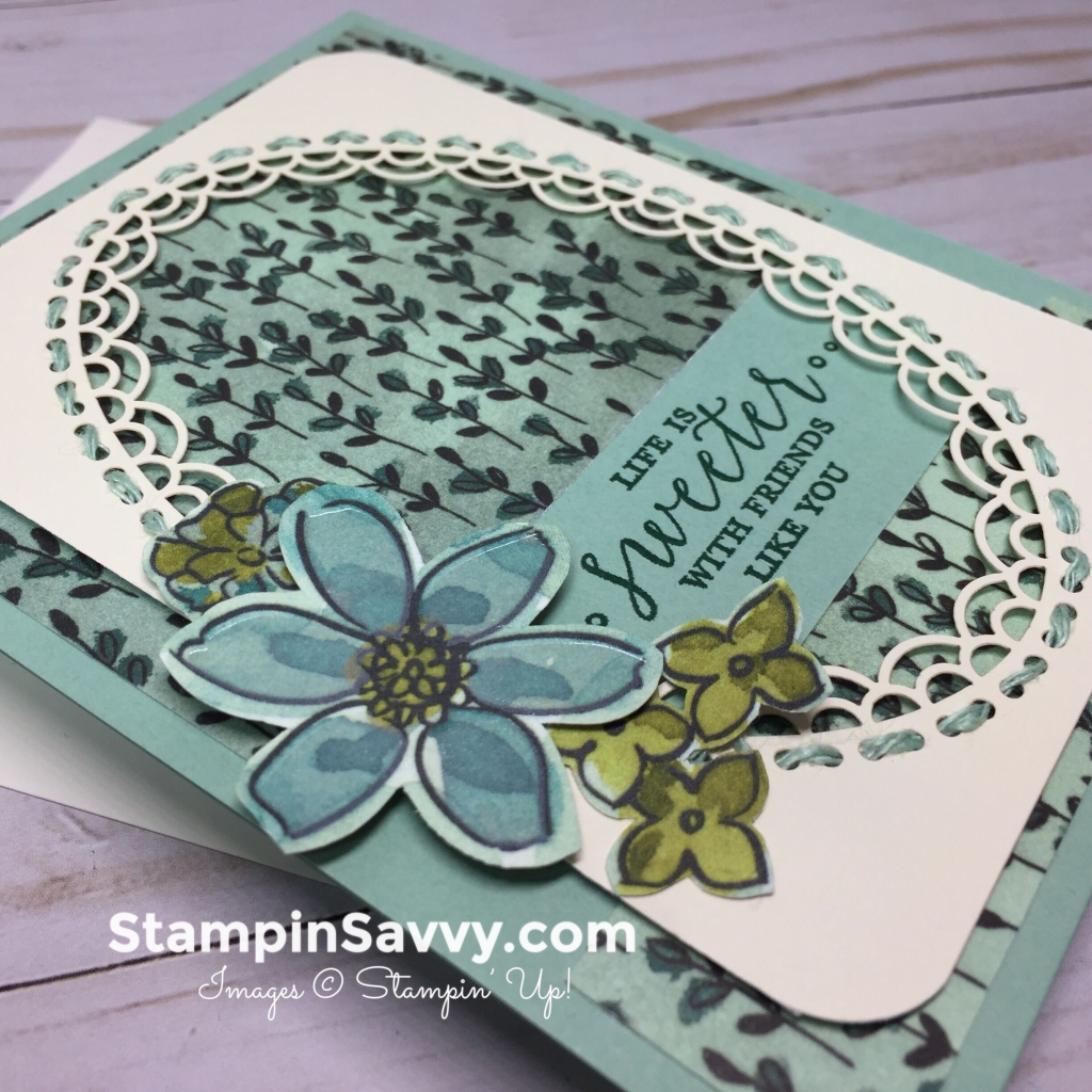 life is sweeter card, closeup, stampinup, stampin up, stampin savvy, stampinsavvy, tammy beard