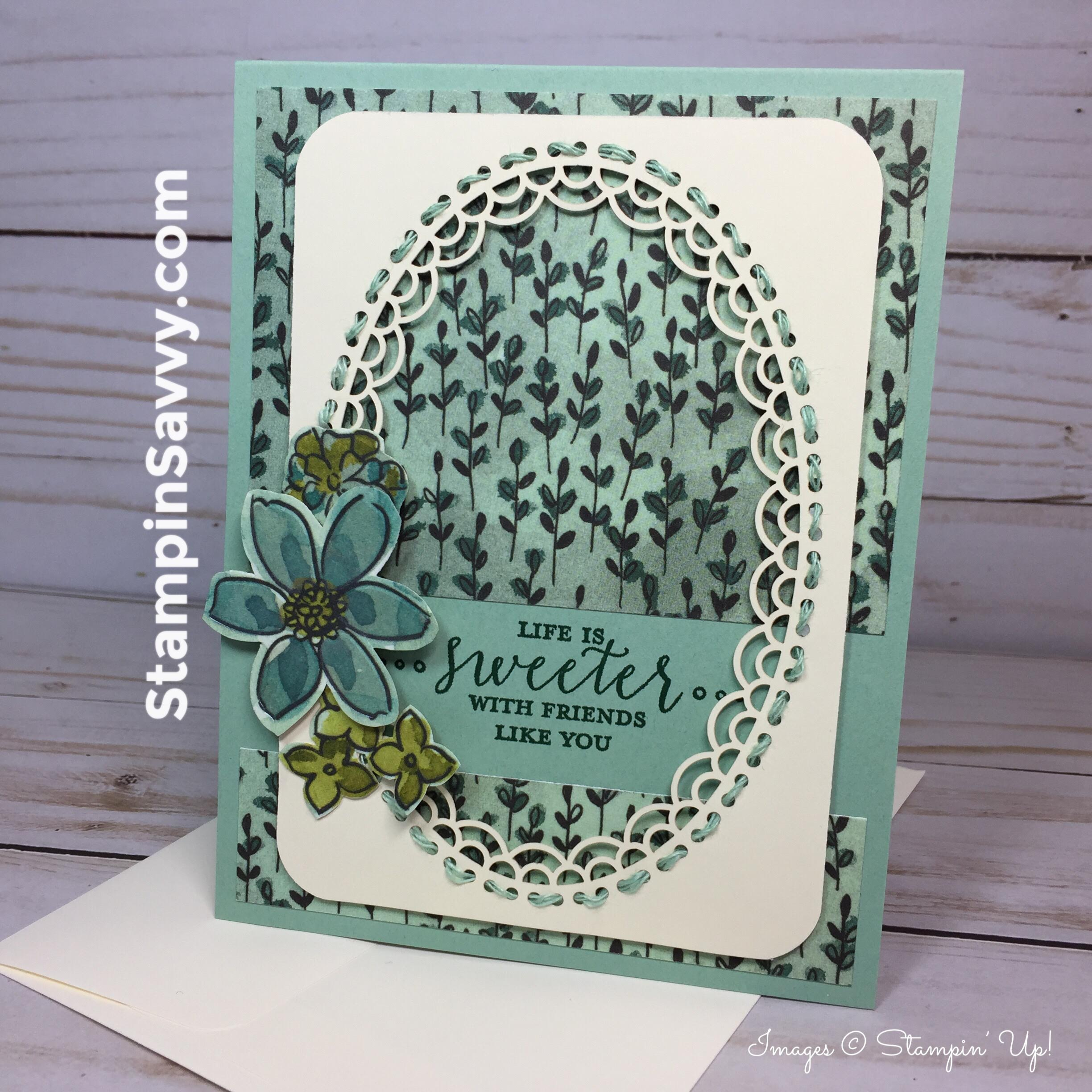 life is sweeter card, stampinup, stampin up, stampin savvy, stampinsavvy, tammy beard