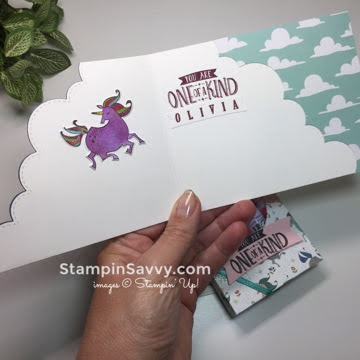magical day unicorn, inside, card ideas, stampin up, stampinup, stampin savvy, stampinsavvy, tammy beard