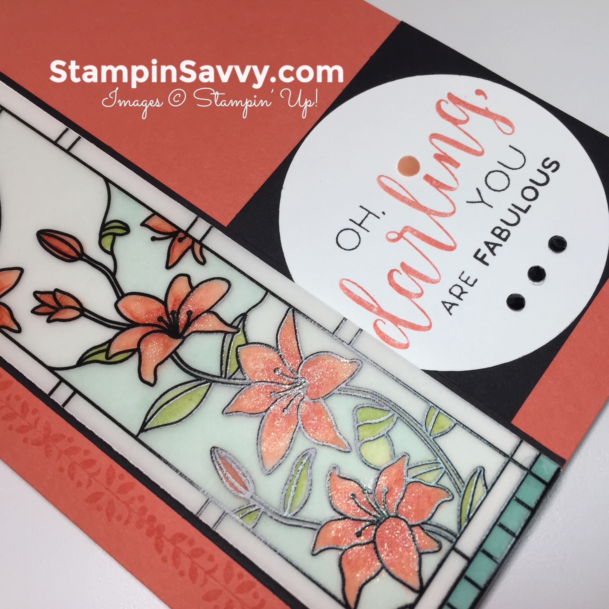 su graceful glass, card ideas, close-up, stampin up, stampinup, stampin savvy, stampinsavvy, tammy beard