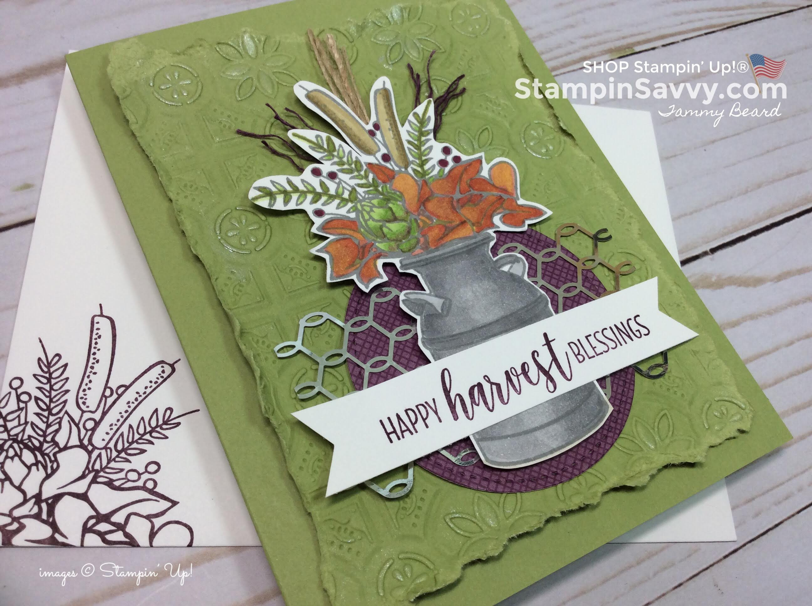 country lane suite, stampin up, happy harvest blessings close-up, card ideas, stampinup, stampin savvy, tammy beard