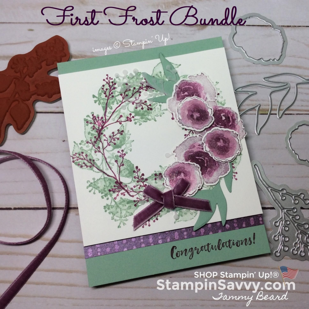 first frost bundle, wedding card, stampin up, stampinup, stampin savvy, tammy beard
