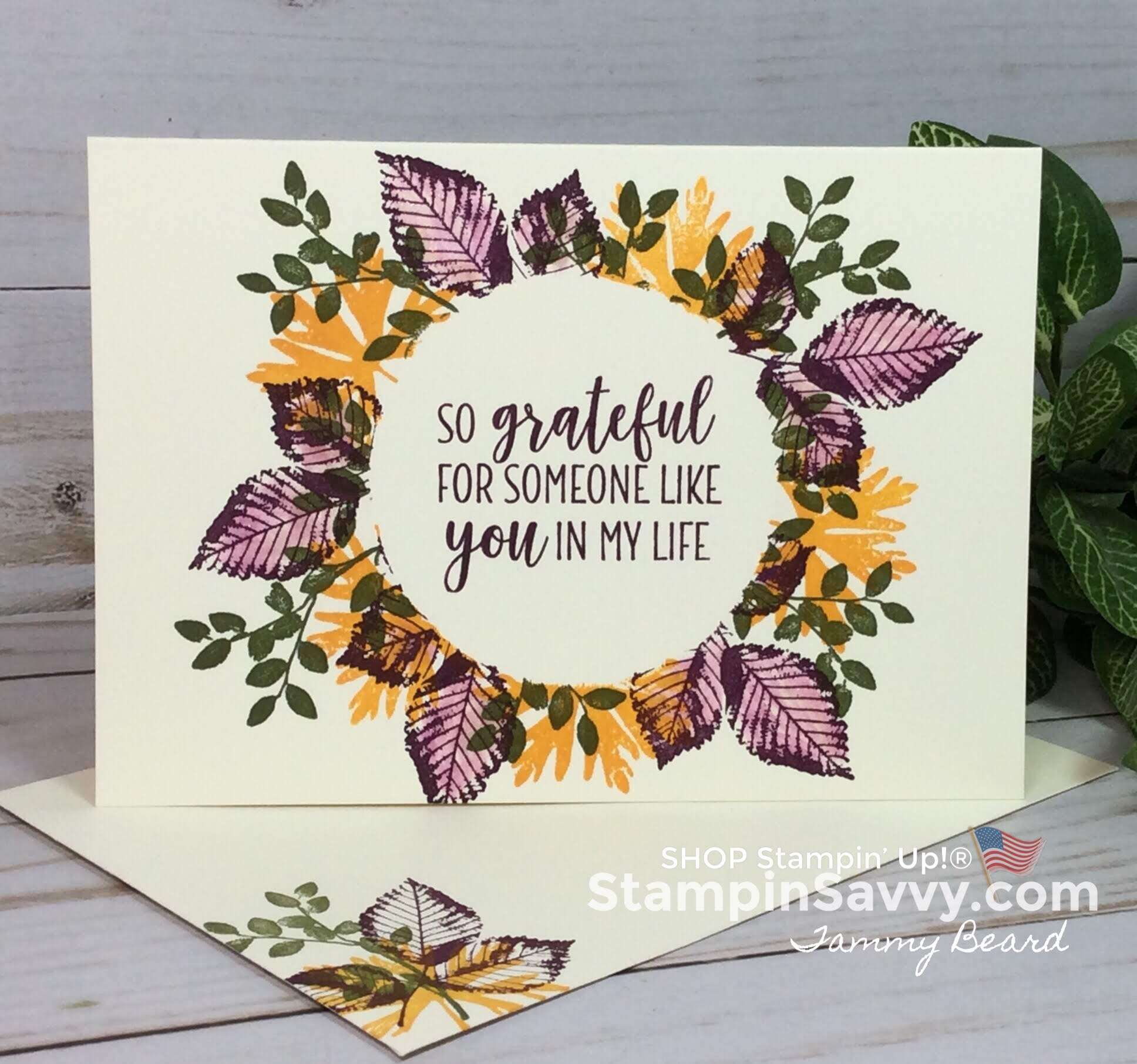 rooted in nature cards, wreath masking technique, stampin up, card ideas, stampinup, stampin savvy, tammy beard