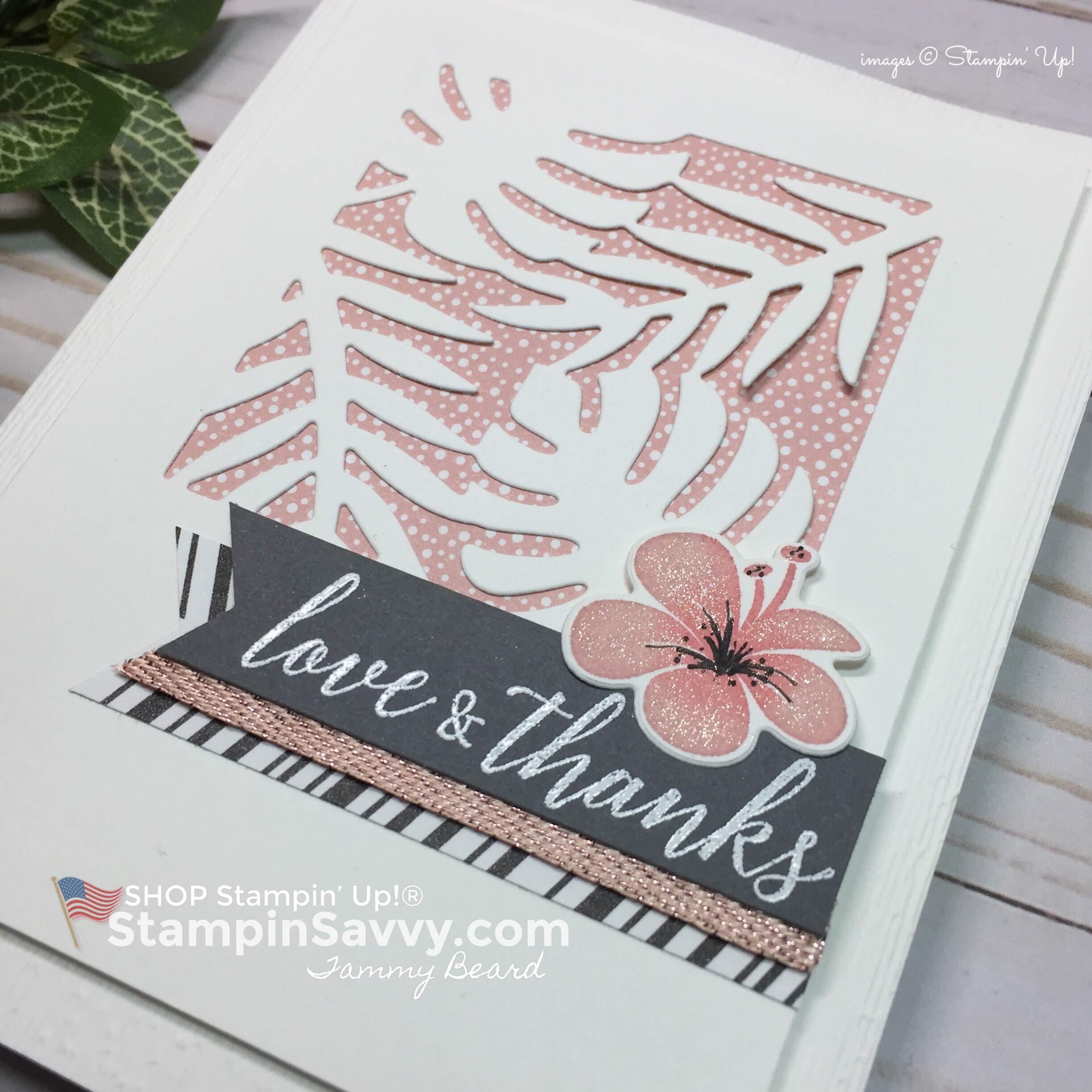 tropical chic bundle, card ideas, stampin up, stampinup, stampin savvy, stampinsavvy, closeup, tammy beard
