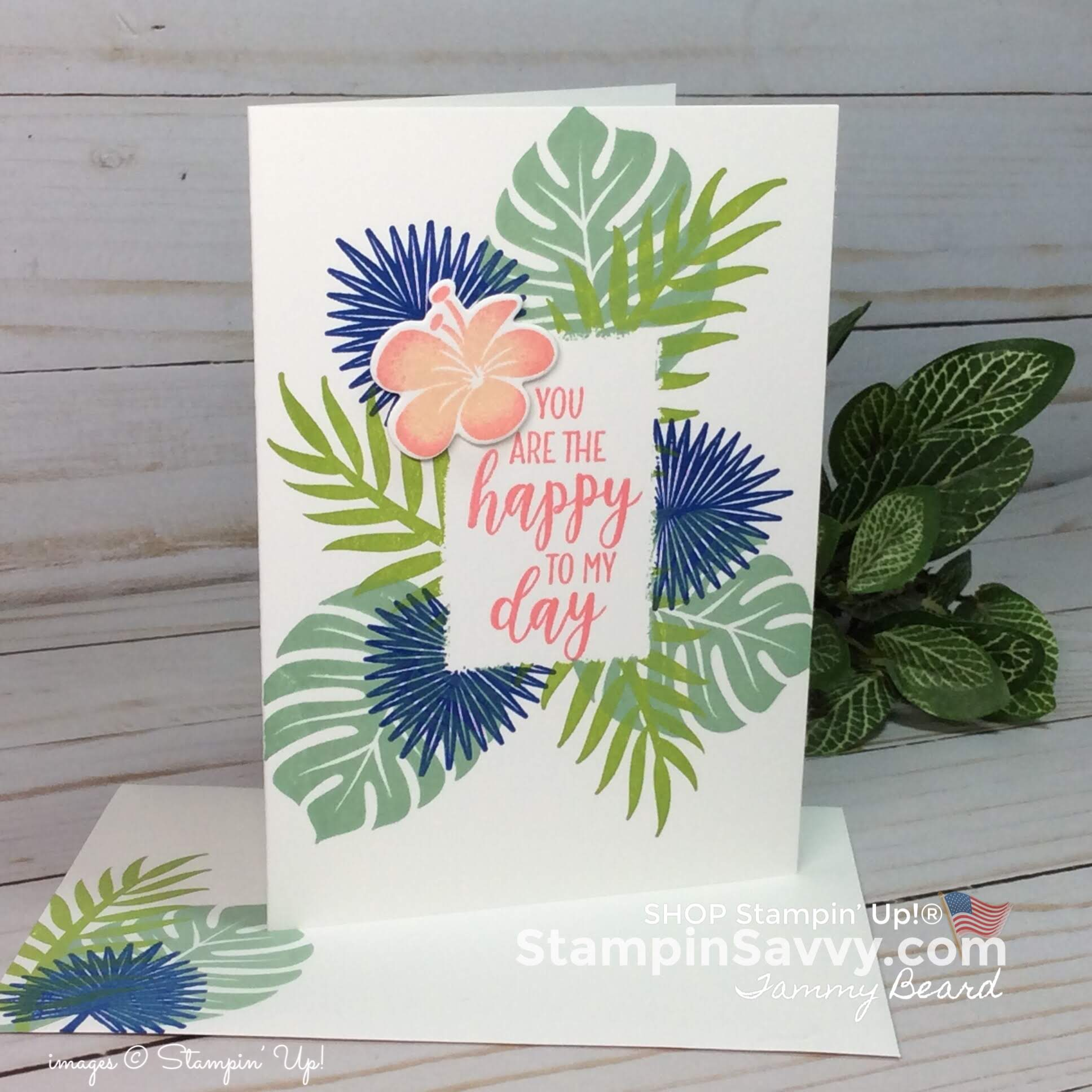 tropical chic stampin up cards, card ideas, masking techniques, mint macaron,stampin up, stampin savvy, stapinup, tammy beard