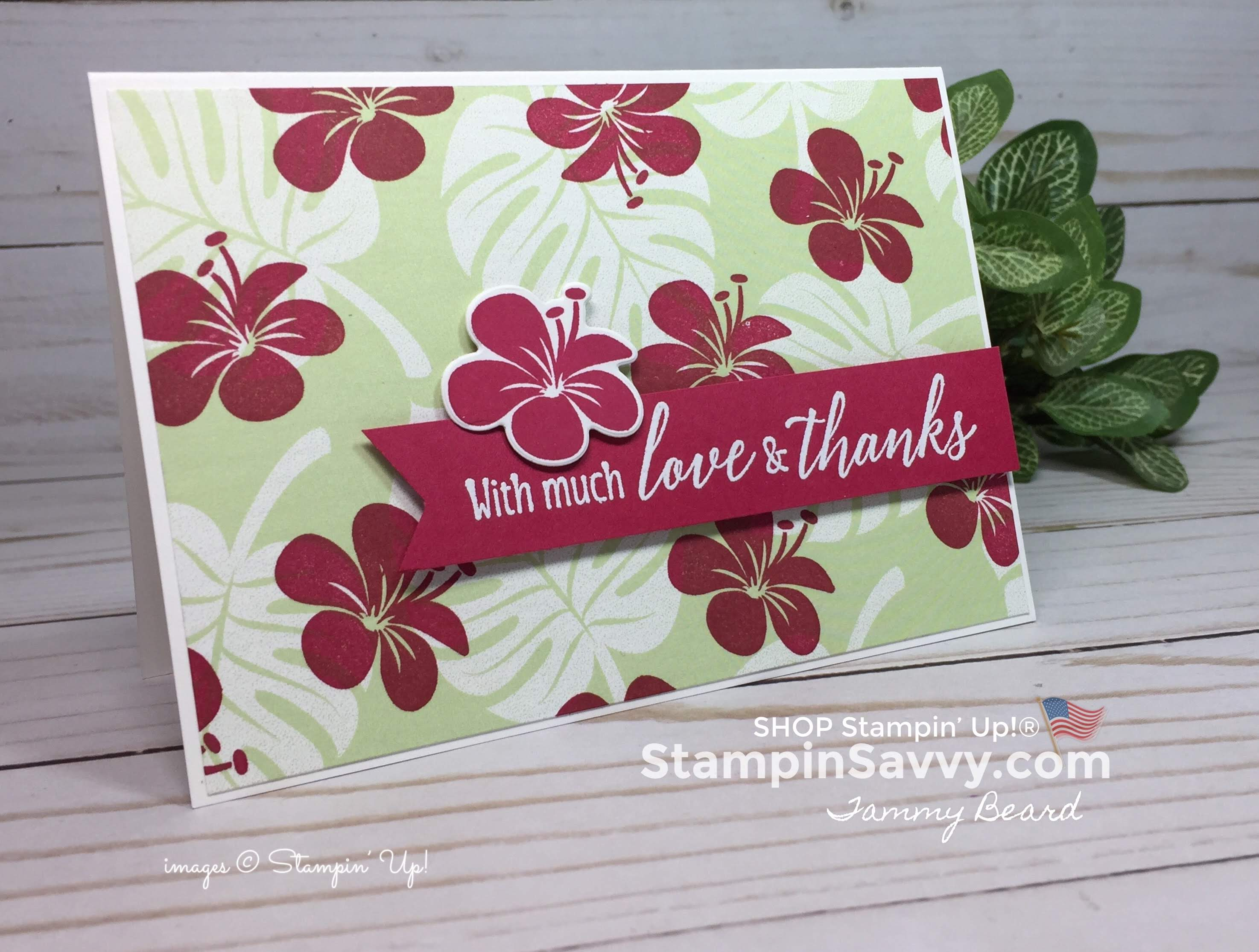 tropical escape cards, stampin up, card ideas, stampinup, stampin savvy, 3, tammy beard