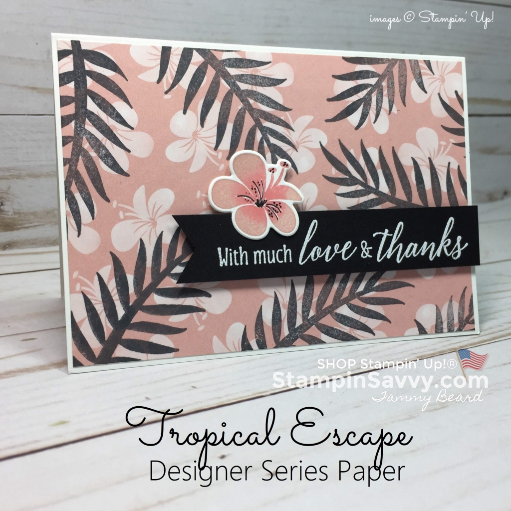 tropical escape cards, stampin up, card ideas, stampinup, stampin savvy, tammy beard