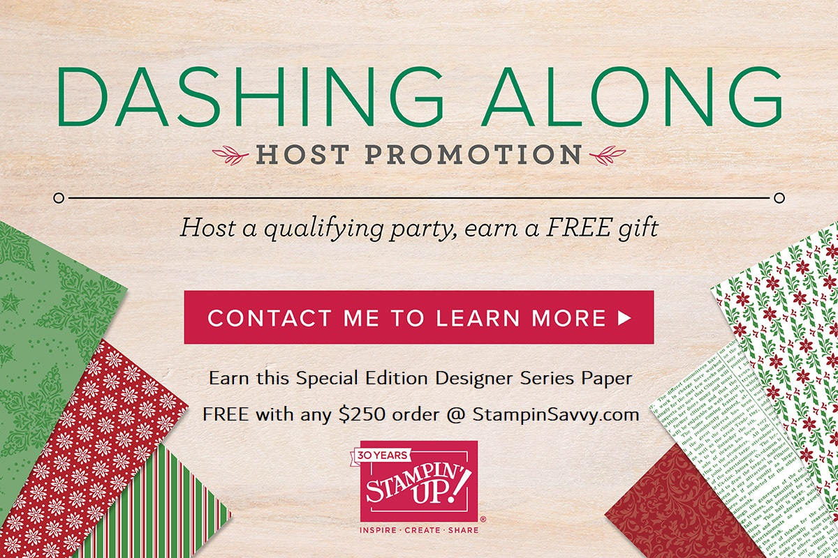 dashing along promotion, stampin up, stampin savvy
