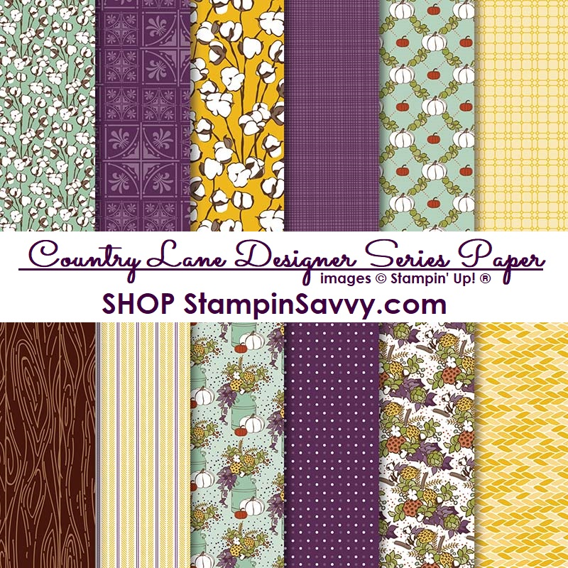 country lane designer series paper stampin up stampin savvy