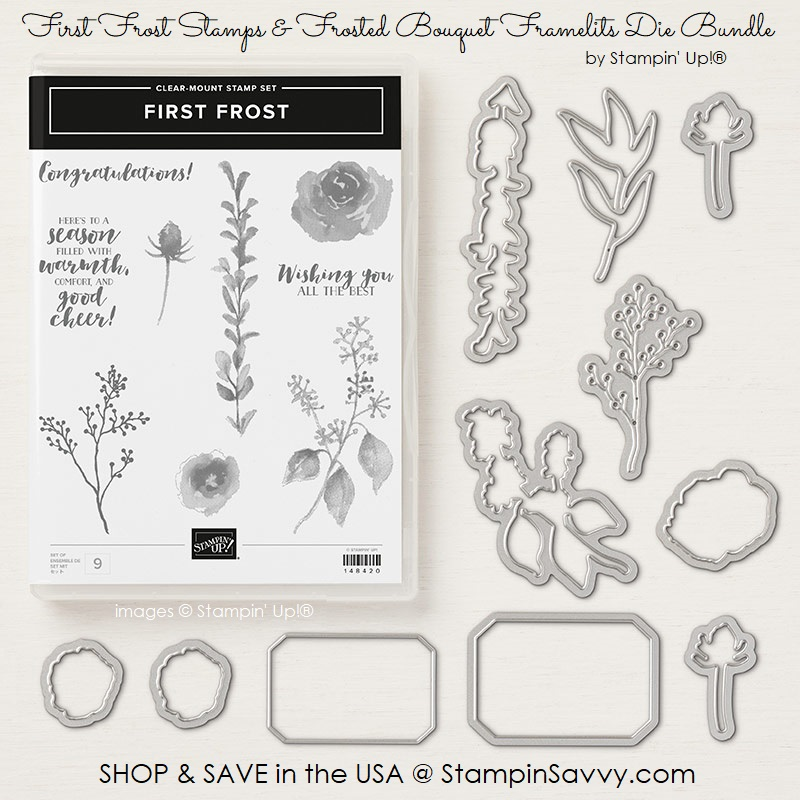 149943, first frost bundle, first frost stamps, frosted bouquet framelits dies, stampin up, stampinup, stampin savvy, tammy beard