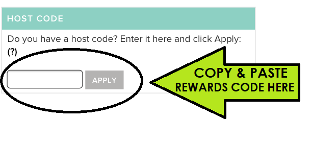 How to apply stampin savvy rewards code