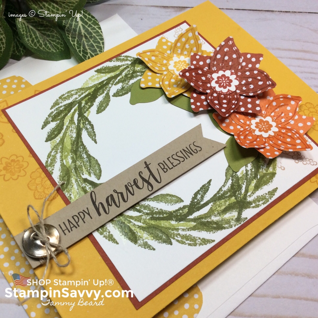 pop of petals bundle, pop of petals card ideas, stampin up fall card ideas, stampin up, stampinup, stampin savvy, tammy beard