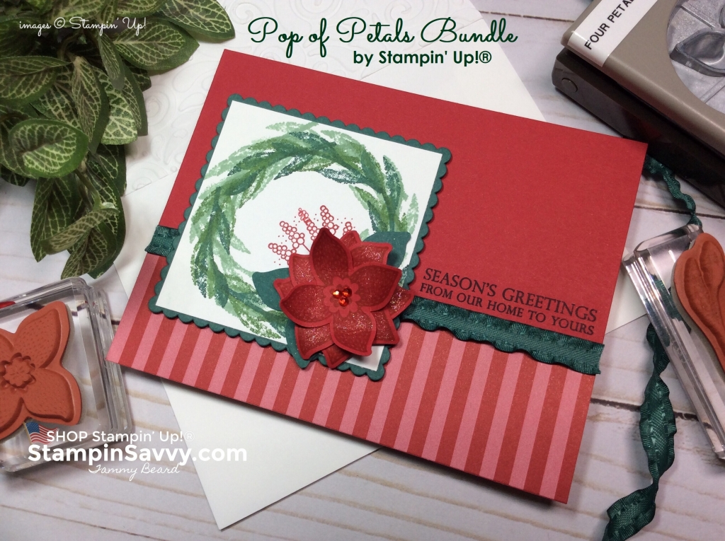 More Pop Of Petals Card Ideas Christmas In September Stampin Savvy