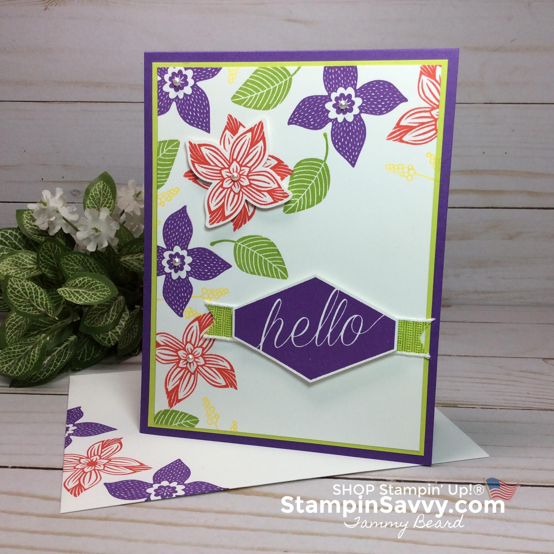 pop of petals, pop of petals bundle, poppy parade, granny apple green, gorgeous grape, card ideas, stampin up, stampin savvy, stampinup, tammy beard