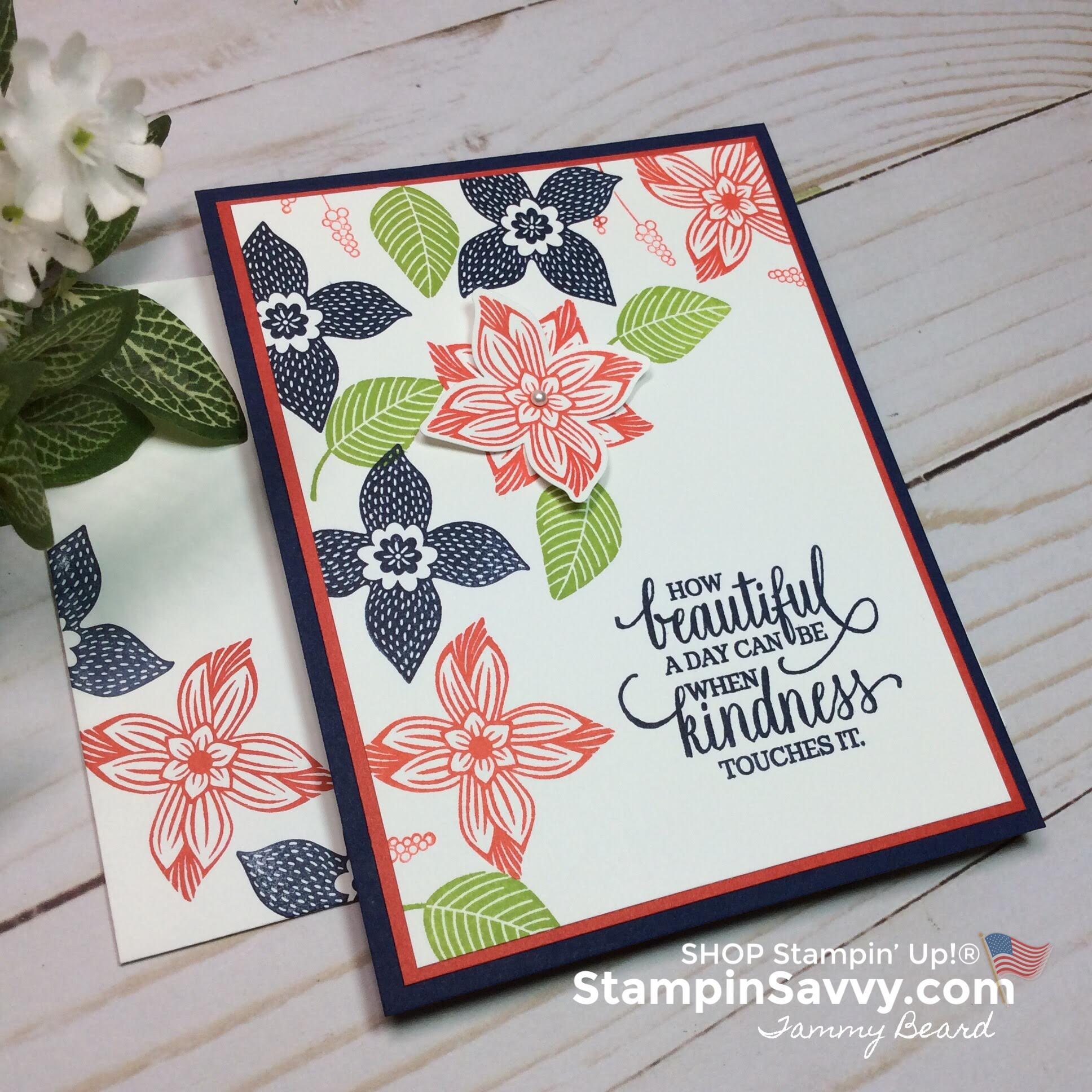 pop of petals, pop of petals bundle, poppy parade, granny apple green, night of navy, card ideas, stampin up, stampin savvy, stampinup, tammy beard