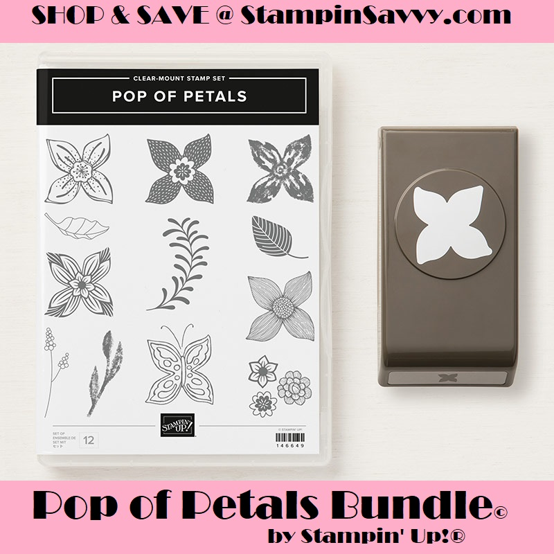 pop of petals, pop of petals bundle, stampin up, stampin savvy, stampinup, tammy beard