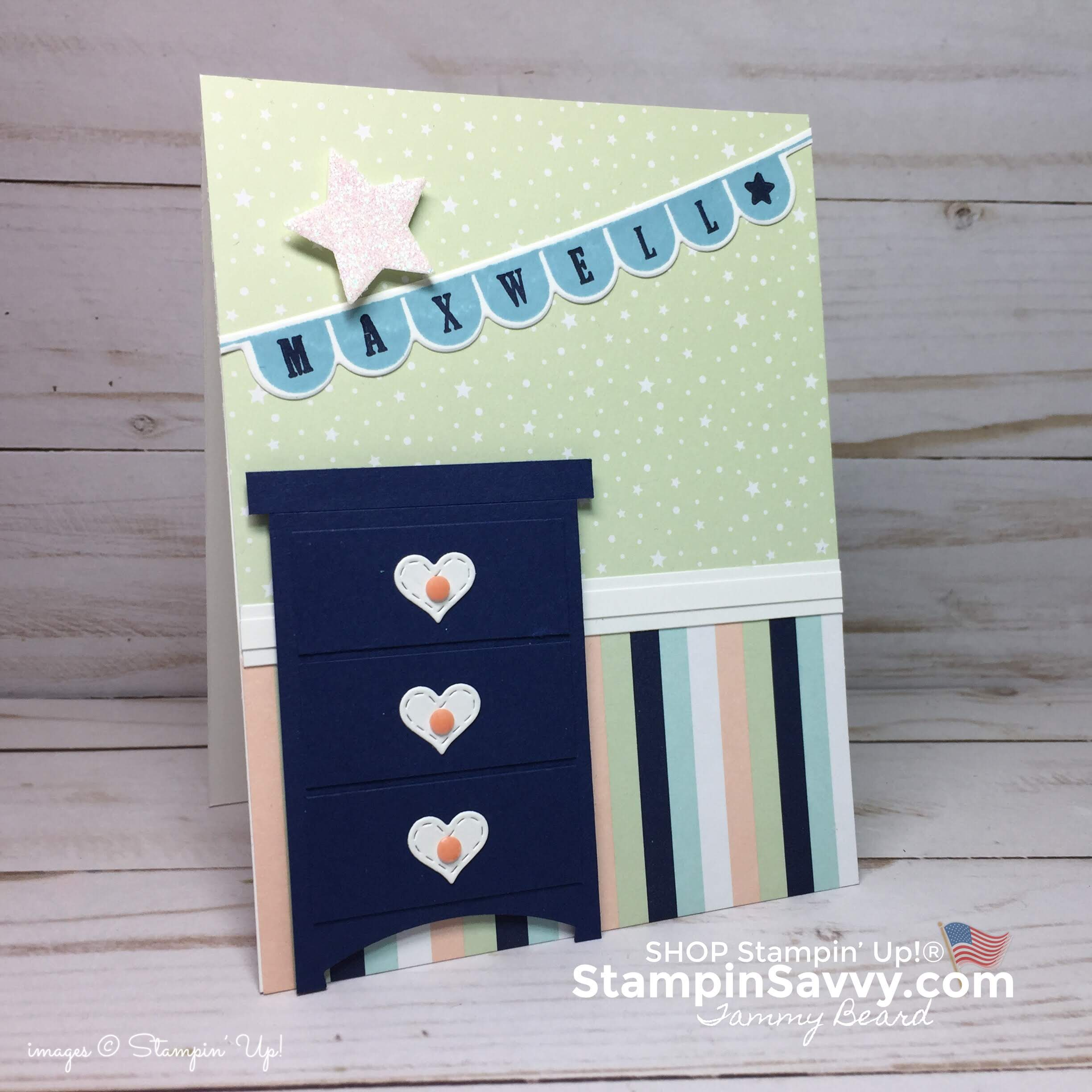 stampin up baby boy card ideas, baby boy room, stampinup, stampin savvy, tammy beard
